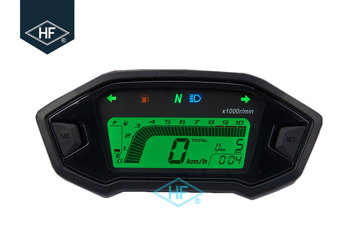 Digital LCD Other Motorcycle Parts Backlight 13000RPM Speedometer With Speed Sensor