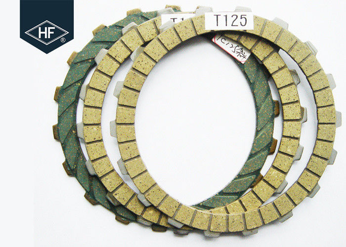 Green Motorcycle Clutch Plate Rubber Cork T125 N125 2.55 Mm Thickness