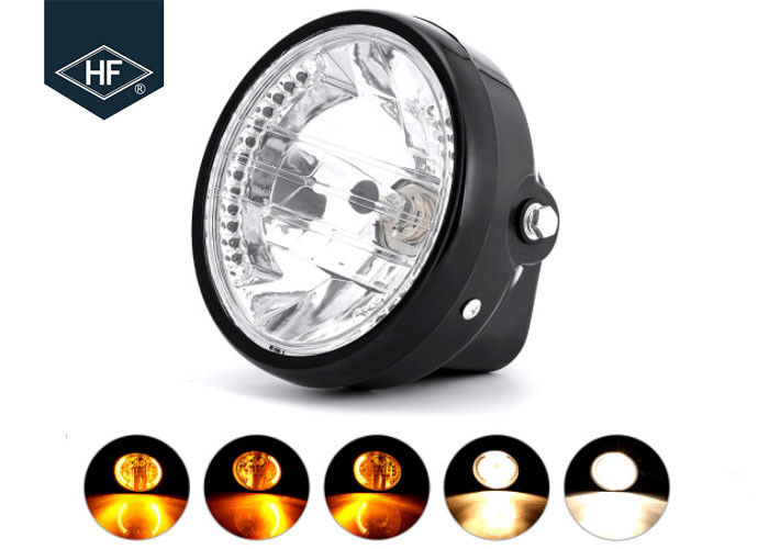 "7 "" Round Aftermarket Motorcycle Headlights With Turn Signals For Honda"