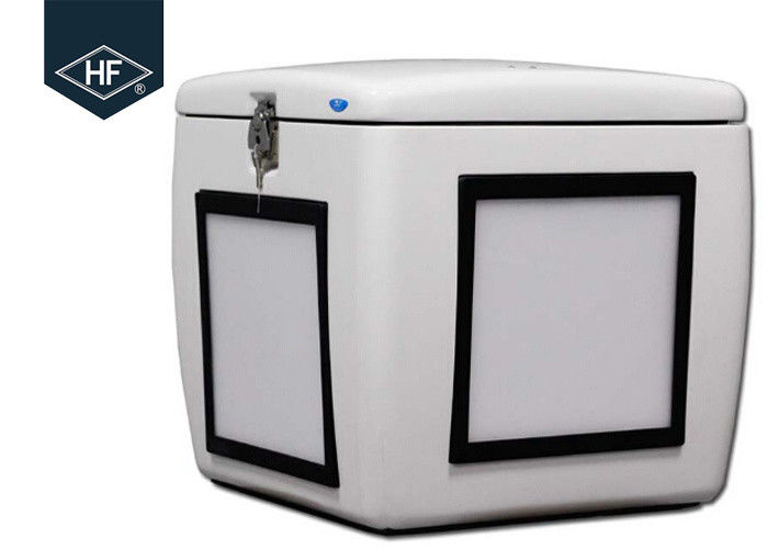 Motorcycle Scooters Food Delivery Box 85L Fiberglass With Led Light 500 * 485 * 495mm