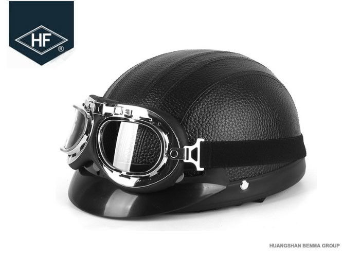 57 - 62cm Universal Motorcycle Riding Helmets With Goggles For Halley 660g Weight